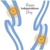 Carte de voeux heureuse de Jour de la D?claration d'Ind?pendance de l'Argentine, banni?re, illustration de vecteur - vecteur illustration stock