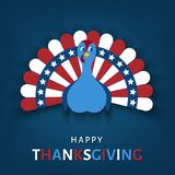 Carte de voeux heureuse de jour de thanksgiving illustration de vecteur