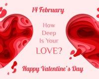 Carte de voeux heureuse de jour de Valentines Photos libres de droits