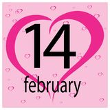 Carte de voeux heureuse de jour de Valentines 14 février Émotion, sentiment illustration de vecteur