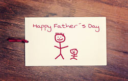 Carte de voeux - jour de pères heureux photographie stock libre de droits