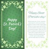 Carte de voeux Jour heureux du ` s de St Patrick ! Il y a un endroit pour le texte illustration de vecteur