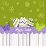 Carte de voeux de jour de Pâques Photos stock