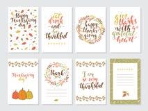 Carte de voeux de jour de thanksgiving de vecteur illustration libre de droits