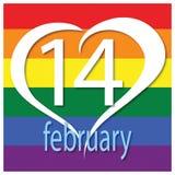 Carte de voeux de jour de Valentines Émotion, sentiment 14 février Illustration de vecteur illustration de vecteur