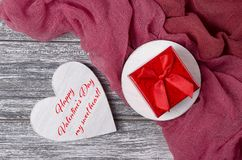 Carte de voeux de jour de valentines avec marquer avec des lettres le jour de valentines heureux mon sweatheart Images stock