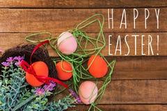 Carte de voeux Joyeuses Pâques image stock