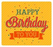Carte de voeux de joyeux anniversaire Image libre de droits