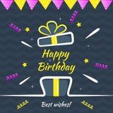 Carte de voeux de joyeux anniversaire Calibre de conception de vecteur pour la carte de f?licitations d'anniversaire, style tir?  illustration de vecteur