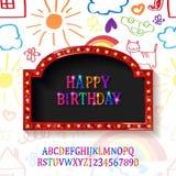 Carte de voeux de joyeux anniversaire d'enfants Photos stock