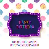 Carte de voeux de joyeux anniversaire d'enfants Photo libre de droits