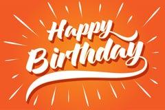 Carte de voeux de joyeux anniversaire pour la partie illustration libre de droits