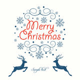 Carte de voeux Joyeux Noël Photos stock