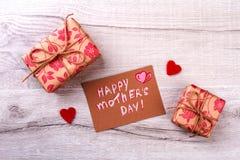 Carte de voeux le jour du ` s de mère Photo libre de droits