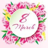 Carte de voeux le 8 mars Image stock