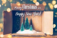 Carte de voeux magique de Noël Image libre de droits