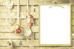 Carte de voeux de menu ou de Noël Image stock