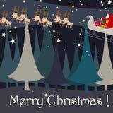 Carte de voeux mignonne de Noël Photographie stock