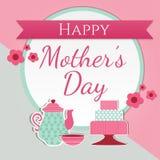 Carte de voeux mignonne heureuse du jour de mère illustration libre de droits