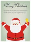 Carte de voeux de Noël avec des souhaits de Joyeux Noël Vecteur Images stock