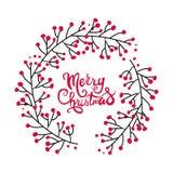 Carte de voeux de Noël avec la conception de guirlande Illustration Libre de Droits