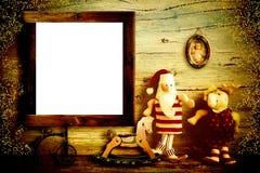 Carte de voeux de Noël de maison de Santa Claus Images stock