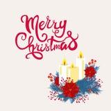 Carte de voeux de Noël de vecteur et d'an neuf Illustration Libre de Droits