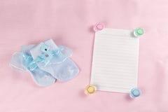 Carte de voeux nouveau-née de bébé Photo libre de droits