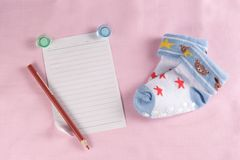 Carte de voeux nouveau-née de bébé Images libres de droits