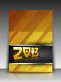Carte de voeux ou carte de cadeau pendant 2013 années neuves heureuses Photographie stock libre de droits
