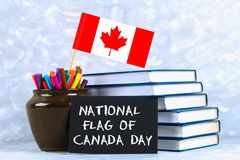 Carte de voeux ou fond heureuse de jour de Canada Photographie stock libre de droits