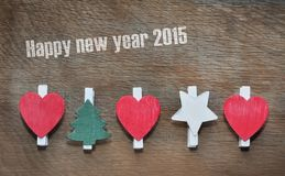 Carte de voeux pendant la nouvelle année 2015 Images stock