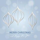 Carte de voeux pendant Noël et l'année neuve Photo stock