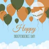 Carte de voeux plate de Jour de la Déclaration d'Indépendance de la Chypre Image stock