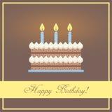 Carte de voeux plate de joyeux anniversaire de conception avec Images stock