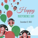 Carte de voeux plate de Jour de la Déclaration d'Indépendance Illustration Libre de Droits