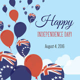 Carte de voeux plate de Jour de la Déclaration d'Indépendance illustration de vecteur