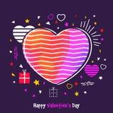 Carte de voeux pour la célébration de jour du ` s de Valentine Photo libre de droits