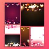 Carte de voeux pour la célébration de jour du ` s de Valentine Photographie stock