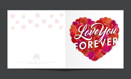 Carte de voeux pour la célébration de jour du ` s de Valentine Photos stock