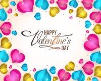 Carte de voeux pour la célébration de jour du ` s de Valentine Photo stock