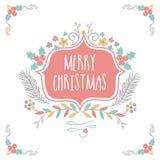 Carte de voeux pour la célébration de Joyeux Noël Image libre de droits