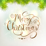 Carte de voeux pour la célébration de Joyeux Noël Image stock