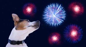 Carte de voeux pour la célébration du Jour de la Déclaration d'Indépendance de l'Amérique le 4 juillet Photos libres de droits