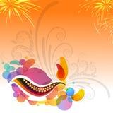 Carte de voeux pour la célébration heureuse de Diwali Image stock