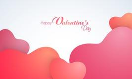 Carte de voeux pour la célébration heureuse de Saint-Valentin Photo stock