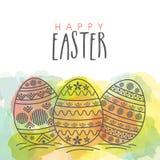 Carte de voeux pour la célébration heureuse de Pâques Photographie stock libre de droits