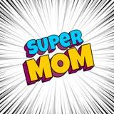 Carte de voeux pour la mère de maman de maman illustration stock