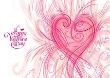 Carte de voeux pour la Saint-Valentin Image stock