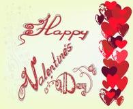Carte de voeux pour la Saint-Valentin de St Image stock